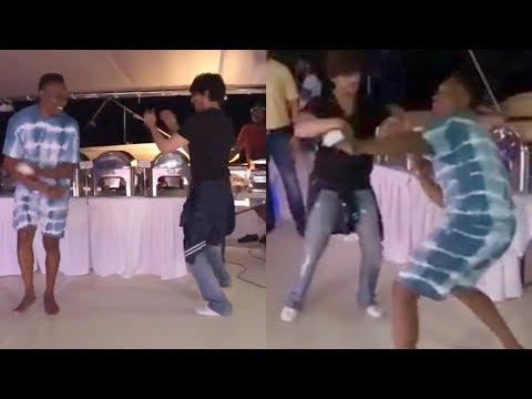 Shahrukh Khan खूब नाचे 'Lungi Dance ' के गाने पर Dwayne Bravo के संग Viral हुआ Video Mp3