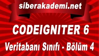 Codeigniter Kullanımı 6 Veritabanı Sınıfı Bölüm 4
