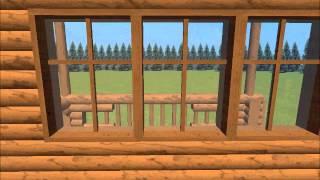 Проект дома из бревна -