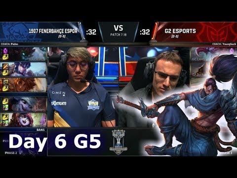 1907 Fenerbahçe vs G2 eSports   Day 6 Main Group Stage S7 LoL Worlds 2017   FB vs G2 G2