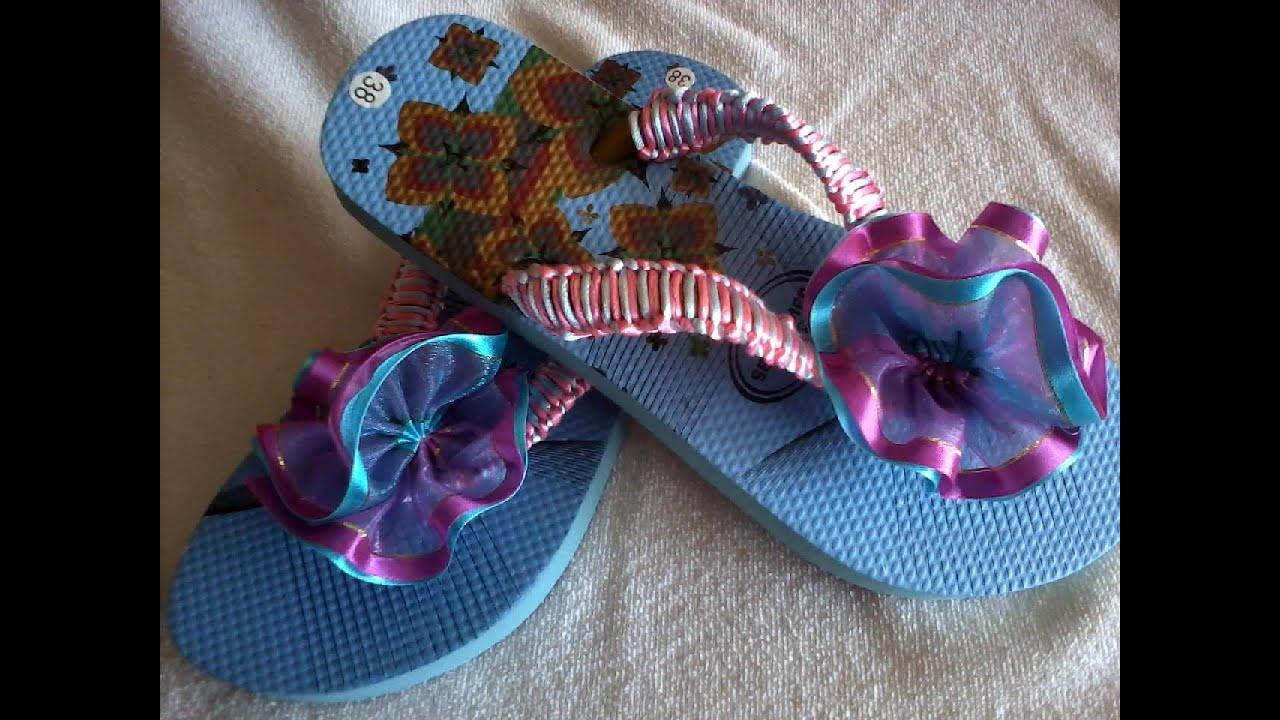 Sandalias Decoradas Con Liston Youtube