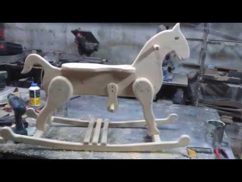 Ξυλινο Κουνιστο Αλογακι No2 - Wooden Rocking Horse vol.2