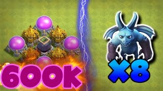 Clash Of Clans | OMG 600k LOOT WITH ONLY 8 MINIONS? | HOW IS THIS POSSIBLE!? |