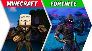 MIRL: HACKER: PORTAL IN FORTNITE - Minecraft Animation