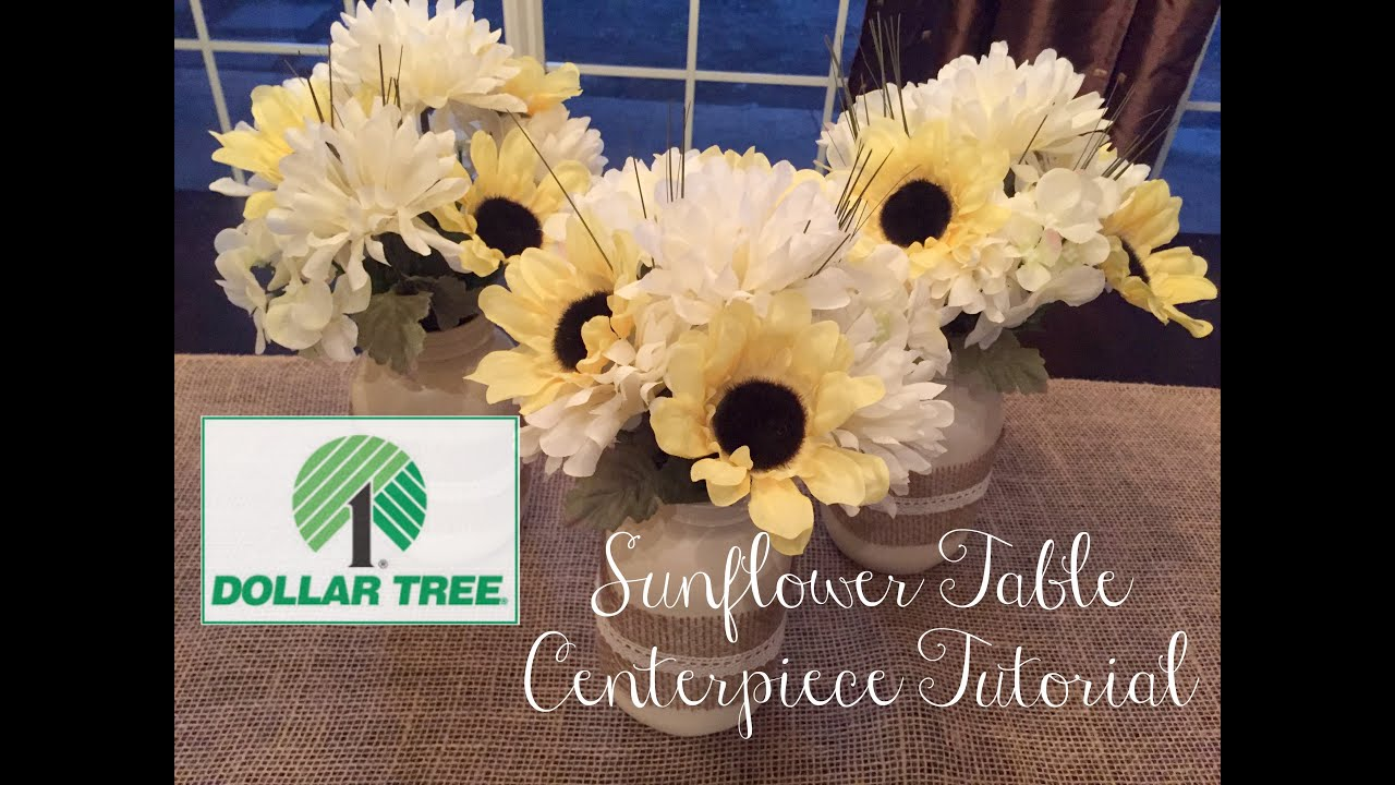 & DOLLAR TREE DIY | Sunflower Table Centerpiece - YouTube