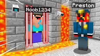 9 Ways To TRAP Noob1234 In A SECRET Minecraft Prison! (Preston)