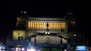 Visit Italy Roma (rome) 4K night sightseeing in Italy Holidays. Νυχτερινή Ρώμη.