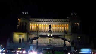 Visit Italy Roma (rome) 4K night sightseeing in Italy Holidays. Νυχτερινή Ρώμη.