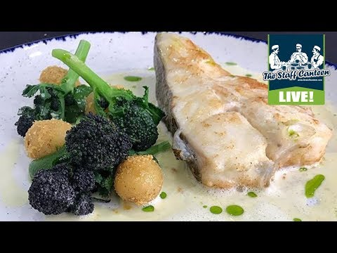 Chefs Richard Corrigan and David Simms cook a Turbot with broccoli and whey sauce recipe