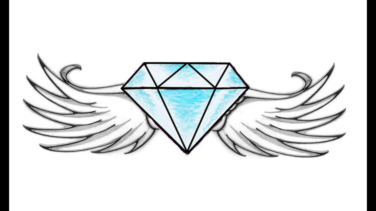 Wie Zeichnet Man Ein Diamant Mit Flügeln (leicht)