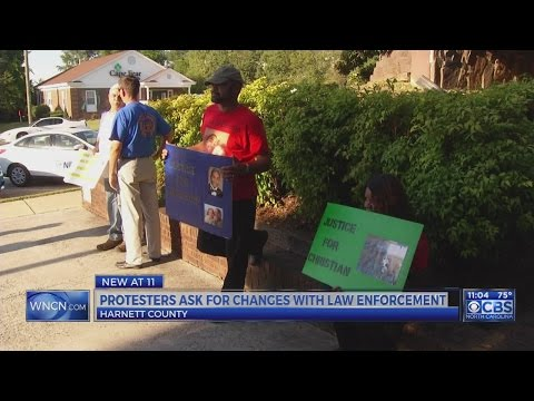 Protesters demand change in Harnett County law enforcement