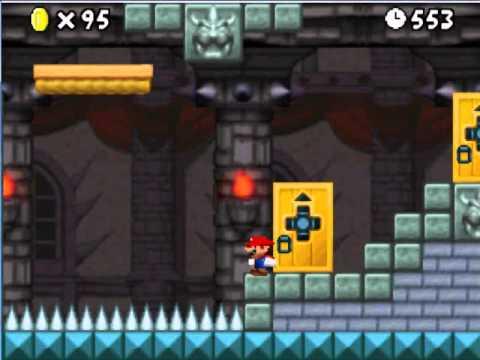 Super Mario Ds Walkthrough World 8 Final Castle Star Coin Youtube