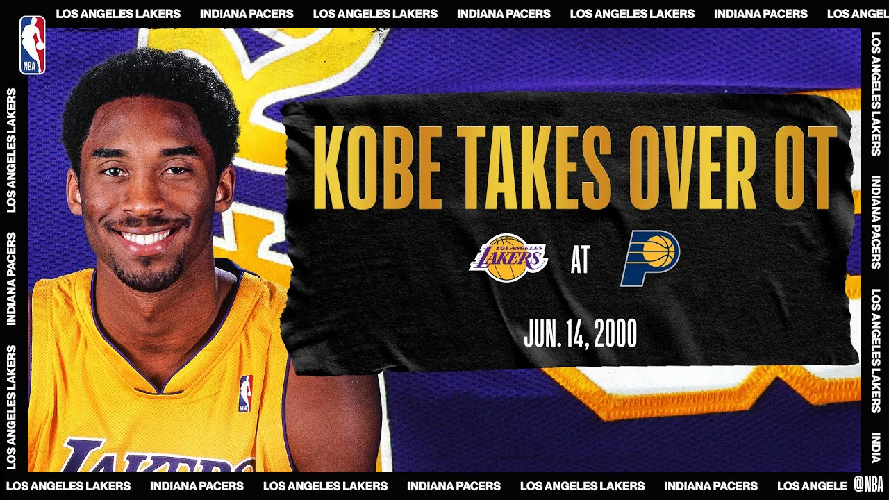 2000 #NBAFinals Game 4: Kobe's OT heroics lift LAL | Lakers @ Pacers | #NBATogetherLive #20Hoop