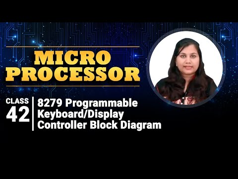 8279 Programmable Keyboard/Display Controller Block Diagram - Peripheral Interfacing With 8085