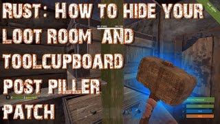 rust hidden loot room and tool cupboard post patch for solo players
