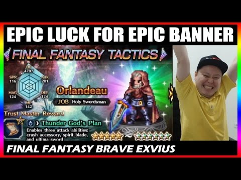 Orlandeau Final Fantasy Tactics Banner Summon - Epic Luck For Epic Banner (FFBE Global)