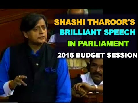 Shashi Tharoor's brilliant SPEECH in Parliament on Indian economy