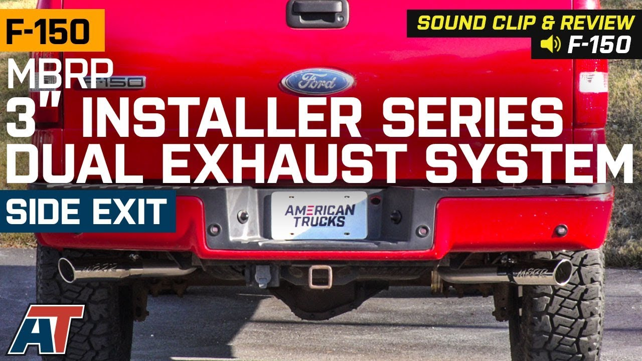 2004 2008 ford f150 5 4l mbrp 3 installer series dual exhaust system sound clip install