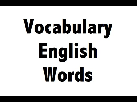 Learn English Words - Vocabulary in HINDI - Lucid explanation