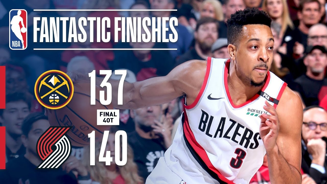 b834d7ba6d89 MUST-SEE 4-Overtime Historic Finish Between Trail Blazers   Nuggets ...