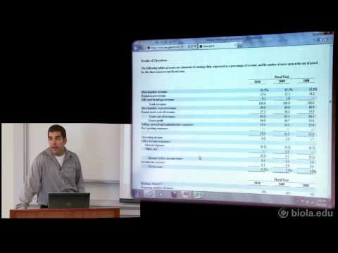 James Webb: How to Read a Financial Statement