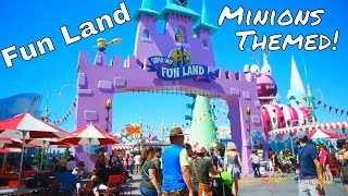 Fun Land with Minions Themed Play Area FAMILY VLOG || Playground Theme Park Universal Studios