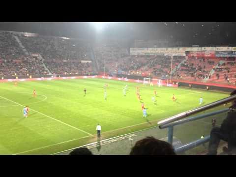 Trabzonspor : 9 - Manisaspor : 0 5.gol  Tribün'den çekim ( Gol :Waris )