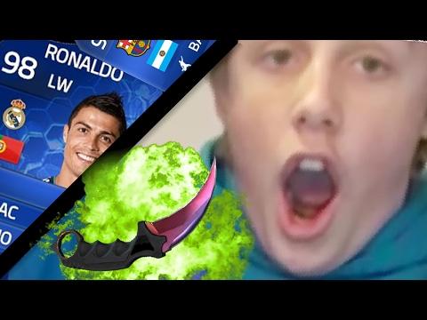 Top 10 reacciones PACK OPENING FIFA y cajas de CSGO | EL SKIN DE 55,00 DOLARES !!!