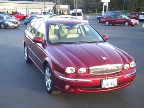 2006 Jaguar X Type 3.0L AWD Red Art Gamblin Motors Chris Streuli 11062A