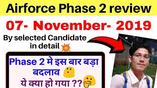 Airforce phase 2 review 08/November/2019 | phase 2 review airforce by selected candidate