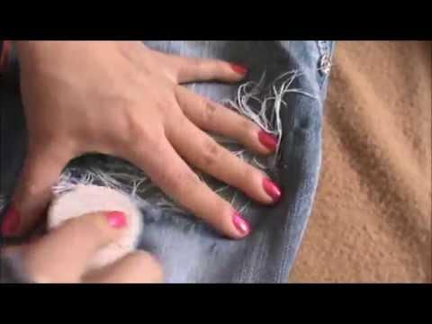 Como Hacer Rotos A Los Jeans Youtube
