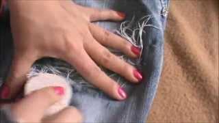 como hacer rotos a los  jeans