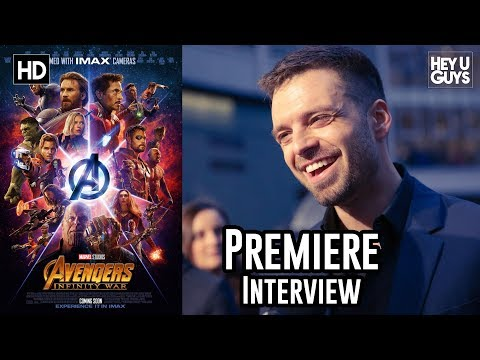 Sebastian Stan (Bucky/The Winter Soldier) on integrating with The Avengers - Infinity War Premiere