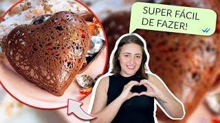 CORAÇÃO RENDADO DE CHOCOLATE – FAÇA E VENDA NO DIA DAS MÃES