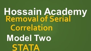removal of serial correlation model two stata