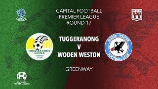 2019 NPL Capital u20s & 1st Grade Round 17 - Tuggeranong United FC v Woden Weston FC