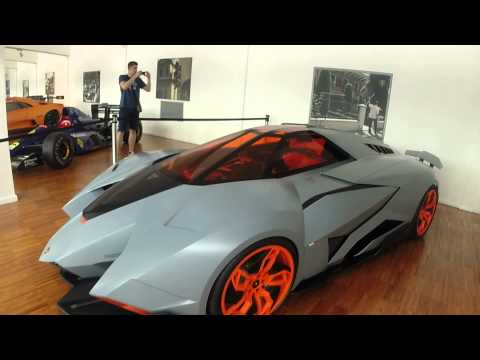 Lamborghini Museum walkthough Italy.
