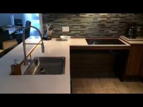 comptoir de cuisine ajustable en hauteur. Black Bedroom Furniture Sets. Home Design Ideas