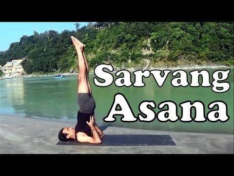 sarvangasana variations  shoulder stand yoga pose for