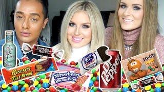 Trying American Candy! ♡ Shaaanxo, Sally Jo & Kris Fox!