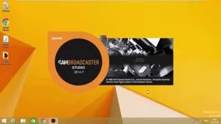 ติดตั้ง SAM Broadcaster STUDIO 2014.7 All Windows support.
