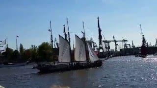 День Рождения порта города Гамбург #часть 1(Первый День Рождения порта города Гамбург. Заход в порт русских парусников