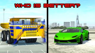 Beamng drive - Giant Car vs. Tiny Car - Who is better?