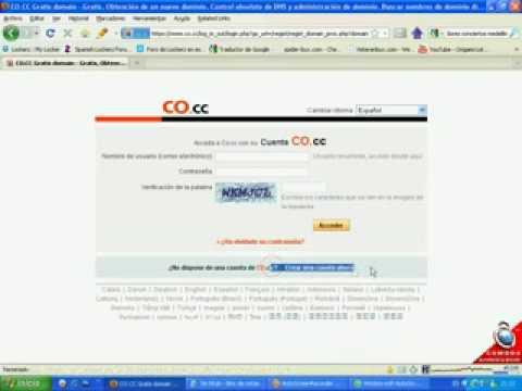 Crear Dominios .CO.CC Gratis