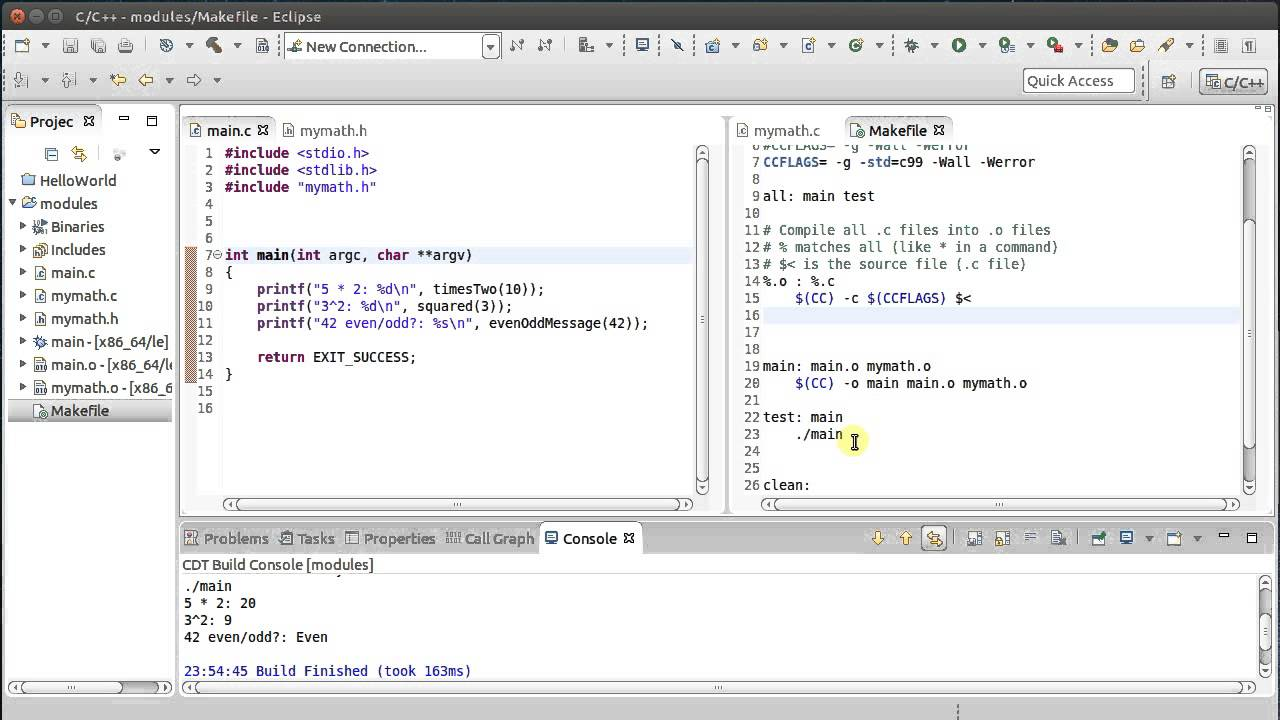 Compile c++ with makefile