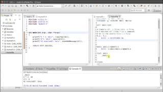Multi-file C Program with Makefile in Eclipse