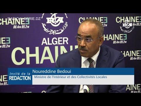 Noureddine Bedoui Ministre De L'Intérieur Et Des Collectivités Locales