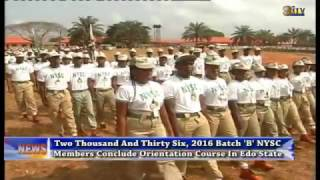 2016 Batch B NYSC members conclude orientation course in Edo State