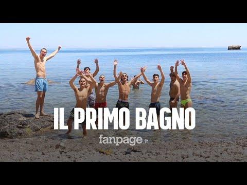 """Taormina, il primo bagno post quarantena a Isola Bella: """"Pochi bagnanti, ci auguriamo la normalità"""""""