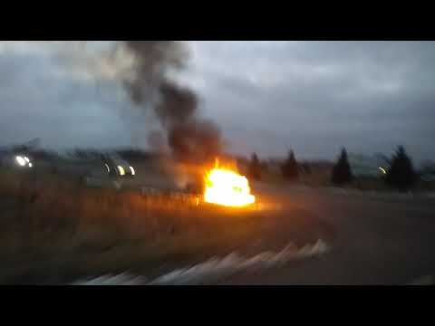 Car on fire highway 70 and county Rd 3 pine county mn